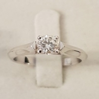 18ct W/G Diamond Solitaire Engagement Ring