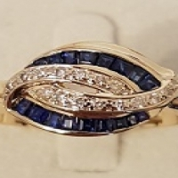New Diamond & Saphirre Ring