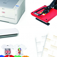 T Shirt System for Printing Full Colour on Light and Dark Cotton T shirts