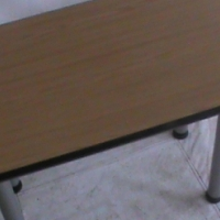 Straight oak desk