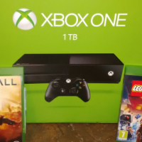 xbox one 1TB with headset. remote. 2games