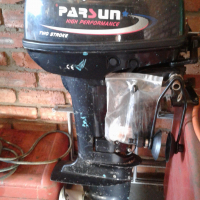 15 H.P. PARSUN two stroke out board motor