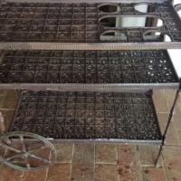 Antique Cast Iron Tea Trolley