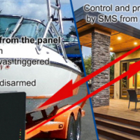 Boat alarm system that sends SMS notifications to your mobile phone