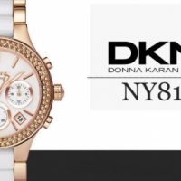 DKNY Women's CERAMIC NY8183 Gold with White Dial TO SELL OR SWOP FOR CELLPHONE