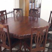 Dinning room table, 8 seater with buffet made from imbuia woood
