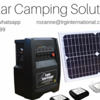 Solar Camping Kit with Accesories