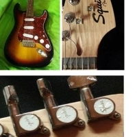 Squier strat fender elektriese guitar