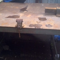 staal werkstafel
