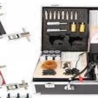 Tattoo kits iron 1 guns machines tips speed stick with case