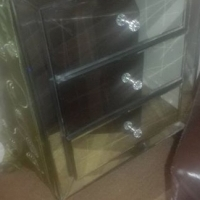 Glass bed side table