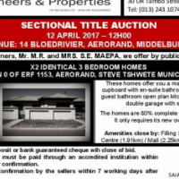 x2 Identical Sectional Title Homes on Auction - 12 April 2017 @ 12h00