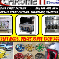 CHROME IT CHROME SPRAY SERVICES, MANUFACTURING, CHEMICALS, TRAINING, BACK UP SERVICES