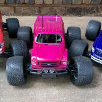 RC Nitro trucks HPI Savage XSS, Traxxas T-Max, Traxxas Revo