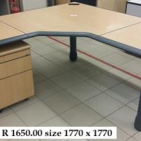 L Shape Desks Pedestals Used For Sale