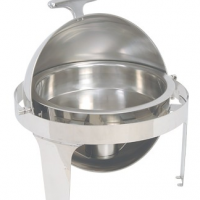 CHAFING DISH STAINLESS STEEL - ROLLTOP - Round