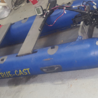 Bait boat with fish finder to swop for my inflatable boad with electric motor