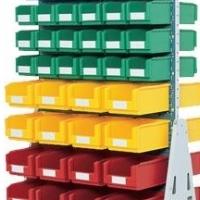 Bin Storage - Free standing louvre panel for standard bins for sale