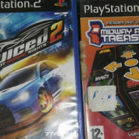 Playstation 2 + racing stuurwiel en 5 games
