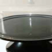 BLACK CAKE STAND & COVER