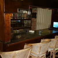 Old navy bar counter with canopy