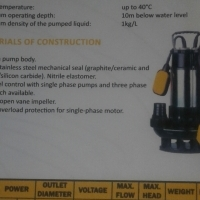 P V B SUBMERSIBLE PUMPS