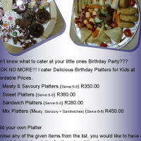 Birthday Platters for Little Pixies