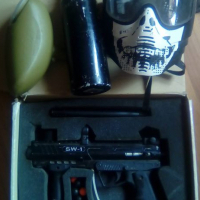 Paintball gun valken tactic sw-1 met 20oz gas botel hopper en masker werk 100%