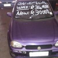 Purple Opel Corsa