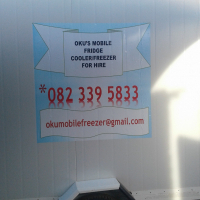 Mobile freezer for hire 0823395833
