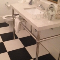 Bathroom Vanities....Stainless Steel & Marble
