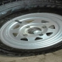 155/80R12 Steel Rims and Tyres for sale