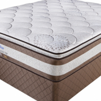 Posture Style Bamboo Pillow Top Double Bse Set