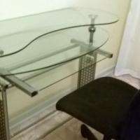 glass desk nd chair