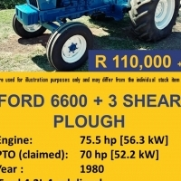 Second Hand Ford 6600 Tractor + 3 Shear Plough !