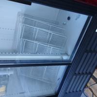 Double sliding door fridge.