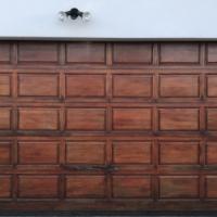 Double Garage Wooden Door