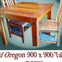 Old Oregon tables, chairs, benches