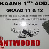 Afrikaans 1Ste Add. Taal - Graad 11 & 12 - Die Antwoord Reeks - Michelle Coetzee.
