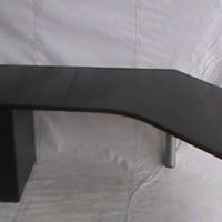 Mahogany l shape desk plus optiplan