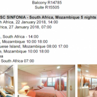 MSC on sale departure from Durban with of without flights. Deposits to secure from R3000