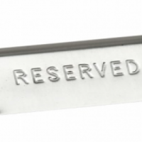 RESERVED TABLE SIGN