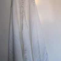 Ivory embroidered wedding dress