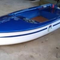 Visvang boot met mini kota motor