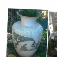 Mosaiek pot en arend beeld