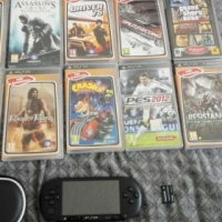 Charcoal PSP in great Condition for sale with 10 free Games