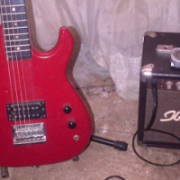 Sunny electric guitar with amp