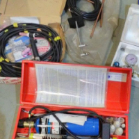 TIG welding set complete with guages