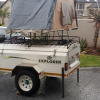 Camping trailer Campmaster Explorer with eezi-awn trailer rooftop tent