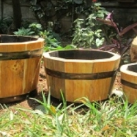 Wooden Flower Planter Pots